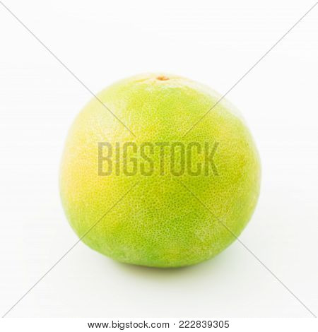 Citrus fruit. Sweetie on white background. Flat lay, top view. Fruit's background