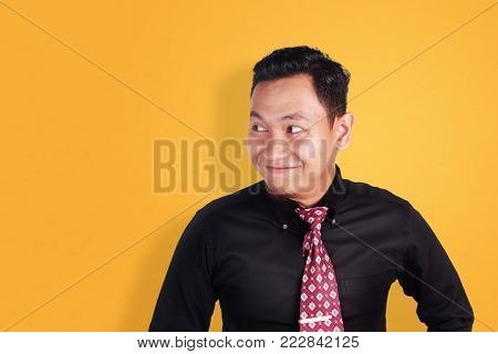 Funny Asian Man Smiling
