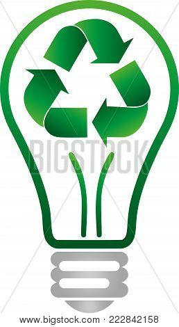 Recycle arrows, recycle sign and lamp, recycle logo