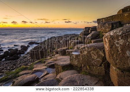 A sunny evening at the Giants Causeway, Co. Antrim