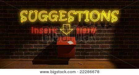 Suggesetions Box - Front View