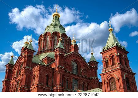 Cathedral In The Old Town Of Helsinki, Finland