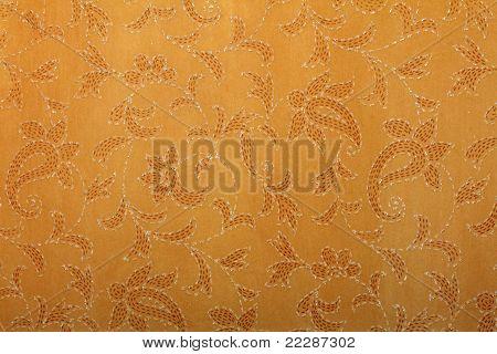 mustard handmade art paper with ethnic print