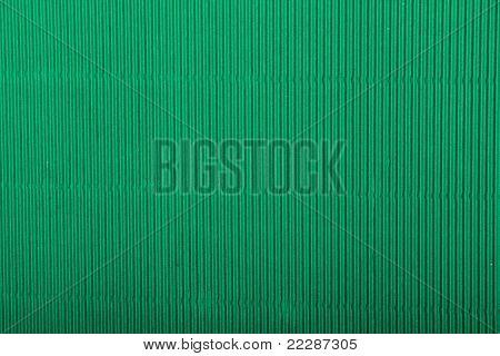 green corrugated cardboard sheet