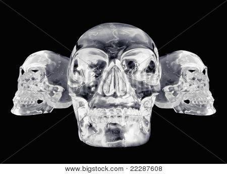 3 Views Of A Crystal Skull
