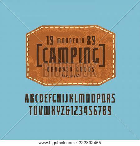 Narrow Italic Sans Serif Font In The Sport Style
