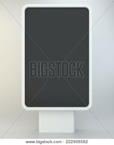Advertising stand banner. 3d Illustration. Advertising display terminal stand