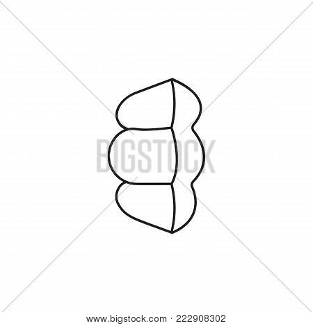 pasta sink icon. Spaghetti element icon. Premium quality graphic design icon. Baby Signs, outline symbols collection icon for websites, web design, mobile app on white background