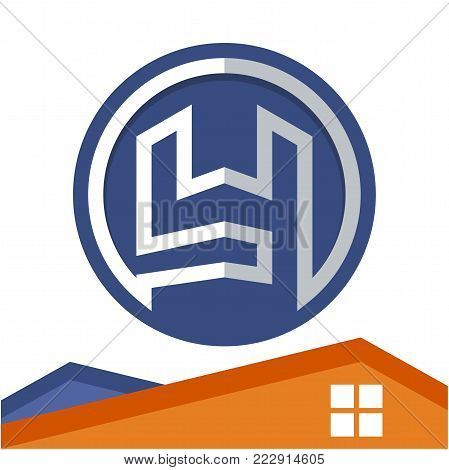 Circle logo icon for business development of construction services, with the initial of the letter Y