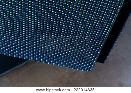 Colorful Led Light Interaction Wall