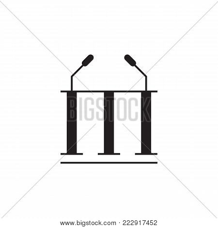 Speaker microphone icon. Election element icon. Premium quality graphic design. Signs, outline symbols collection icon for websites, web design, mobile app, info graphic on white background