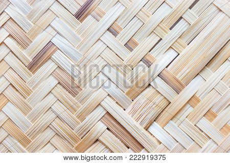 Wickerwork made from bamboo wooden texture background