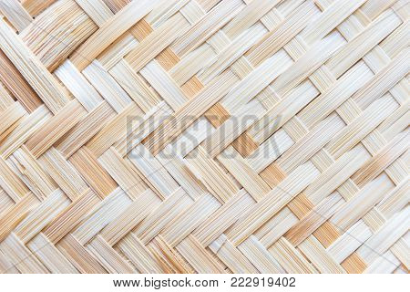 Wickerwork made from bamboo, Wooden texture background