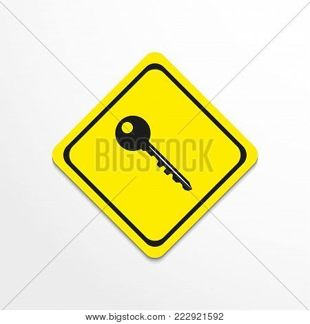 The key to the lock. Vector icon. Conditional vector image.