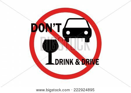 don't drink and drive text icon illustration isolated on white background