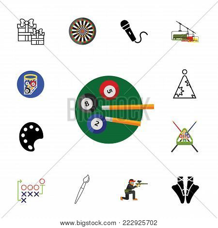 Hobby icon set.Can be used for topics like entertainment, competition, game, leisure