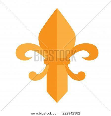 Fleur de lys image vector illustration design