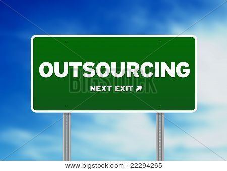 Outsourcing Road Sign