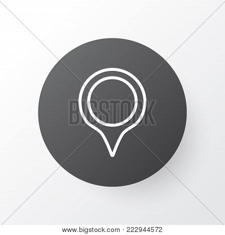 Pinpoint icon symbol. Premium quality isolated marker element in trendy style.