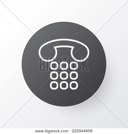 Telephone support icon symbol. Premium quality isolated callcentre element in trendy style.