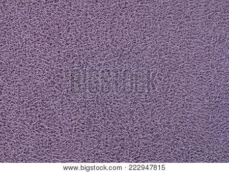 Background Pattern, Horizontal Texture of Purple Plastic Doormat.
