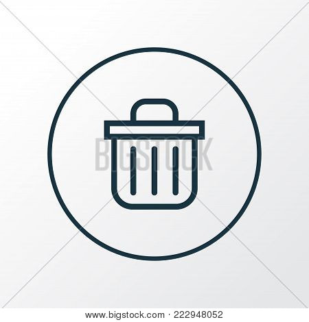 Recycle bin icon line symbol. Premium quality isolated trash can element in trendy style.