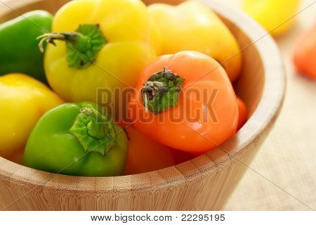 Small sweet peppers