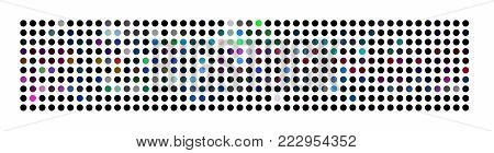 Abstract illustrated powerful dot panorama background pattern