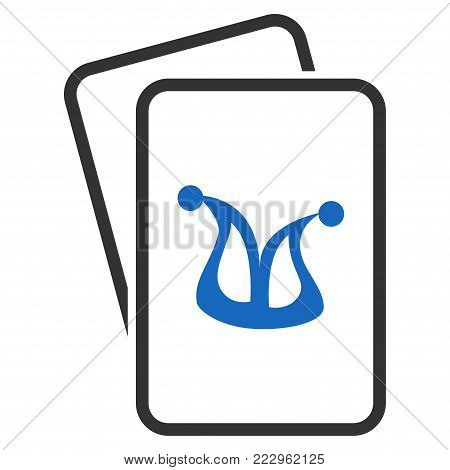 Joker Gambling Cards flat vector pictograph. An isolated icon on a white background. poster