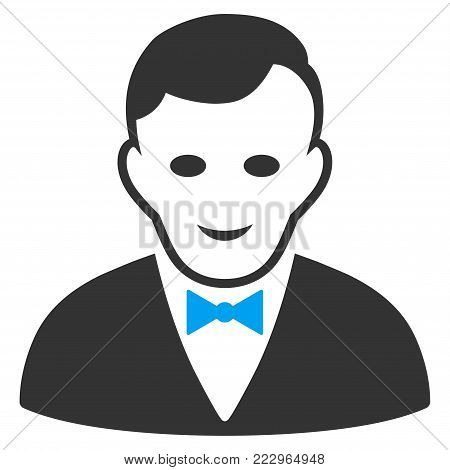 Croupier Manager flat vector pictogram. An isolated icon on a white background.