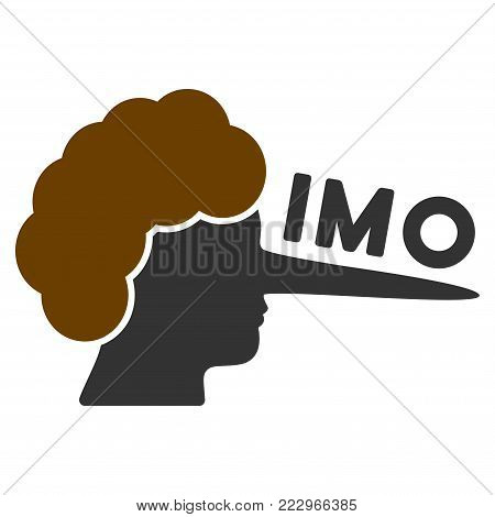 Imo Lier flat vector pictograph. An isolated icon on a white background.