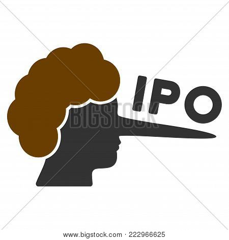 Ipo Lier flat vector illustration. An isolated icon on a white background.