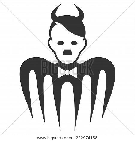 Hitler Spectre Devil flat vector illustration. An isolated icon on a white background.