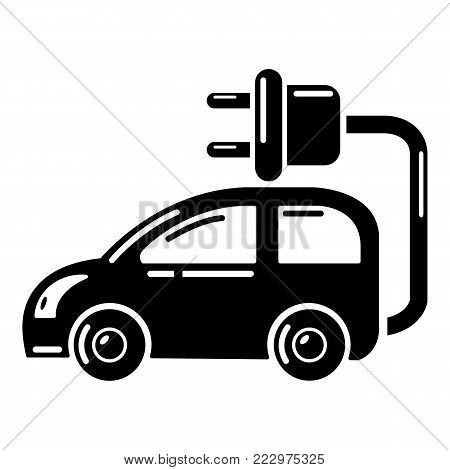 Electric car icon. Simple illustration of electric car vector icon for web.