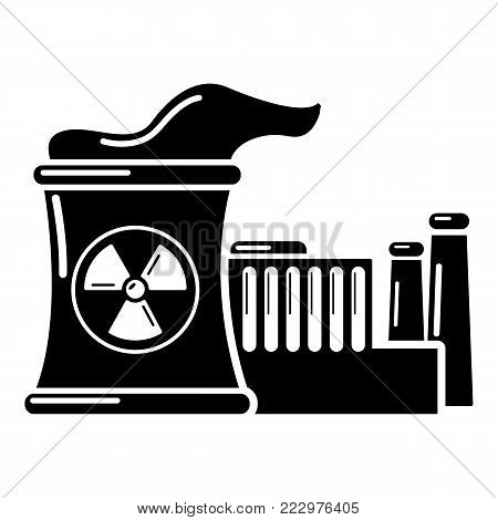 Atomic reactor icon. Simple illustration of atomic reactor vector icon for web.