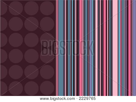 Coffee Dots And Pink Stripes (Vector)