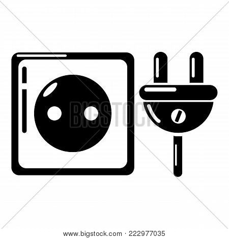 Electric outlet icon. Simple illustration of electric outlet vector icon for web.