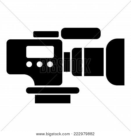 Tv camera icon. Simple illustration of tv camera vector icon for web