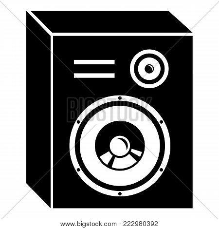 Studio speakers icon. Simple illustration of studio speakers vector icon for web