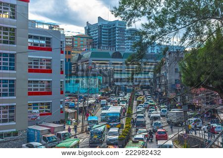 Color images of Baguio City, Philippines take 14 JAN 2018 in the downtown districts.  Images reflect inner city life of Baguio City.