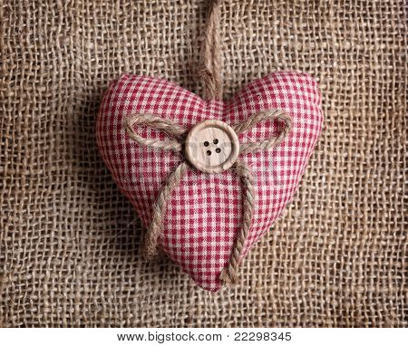 Heart with button