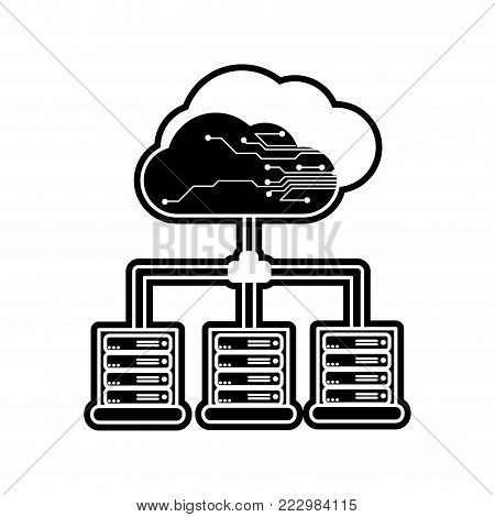 Web hosting of data center and base theme Isolated design Vector illustration