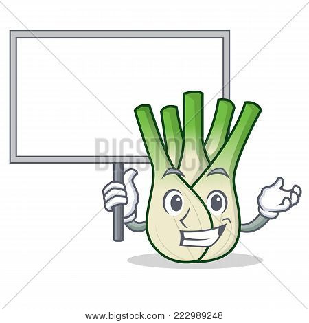Bring board fennel character cartoon style vector illustration