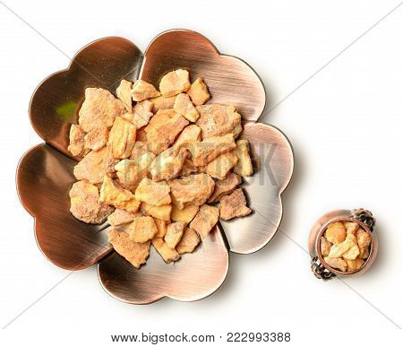 styrax benzoin isolated on the white background