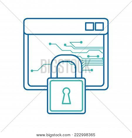 Site and padlock of web responsive website and technology theme Isolated design Vector illustration