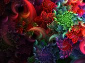 Helix Fuzzy Bright Background - Fractal Art poster