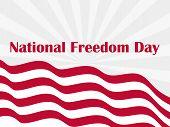 National freedom day, 1st of February. Flag usa. Celebration banner. Slavery Abolition. Vector illustration poster