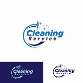simple cleaning service logotype. concept of squeegee, purification, wet cleaning, mop, cleanup badge, sweeping. isolated on white background. poster
