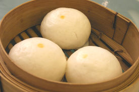 Chinese Steamed Egg Buns