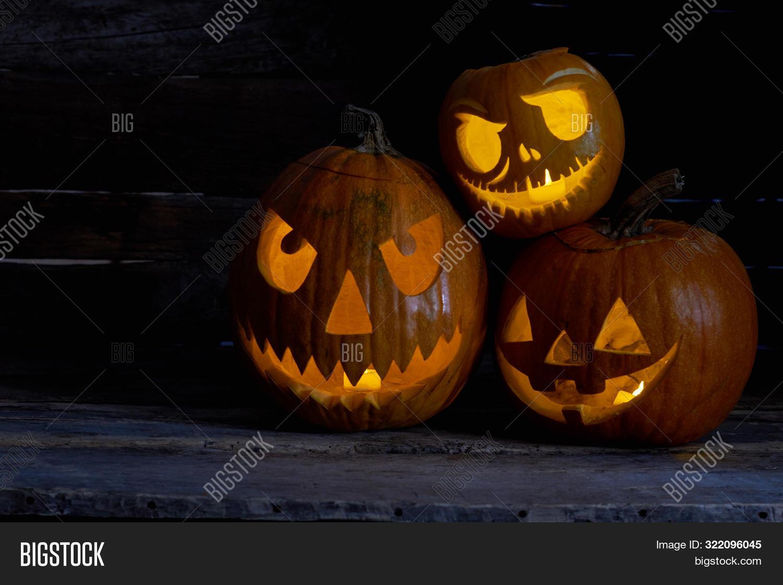 Pumpkins Carved Image Photo Free Trial Bigstock